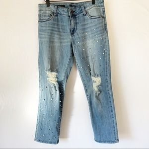 Kut from the kloth pear distressed jeans